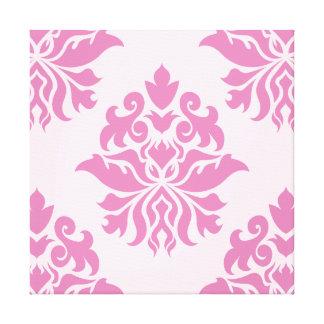 Damask Ornate Pattern - Pinks I Canvas Prints