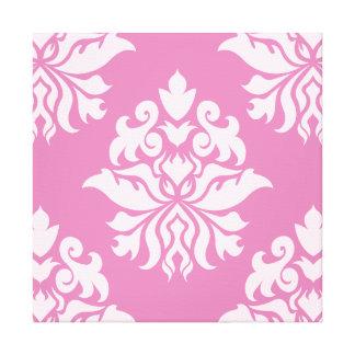 Damask Ornate Pattern - Pinks II Canvas Print