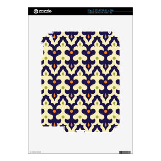 Damask paisley arabesque Moroccan floral pattern iPad 2 Decals