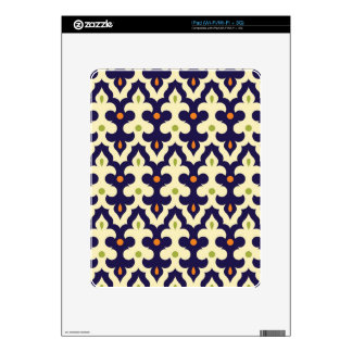 Damask paisley arabesque Moroccan floral pattern Decals For The iPad