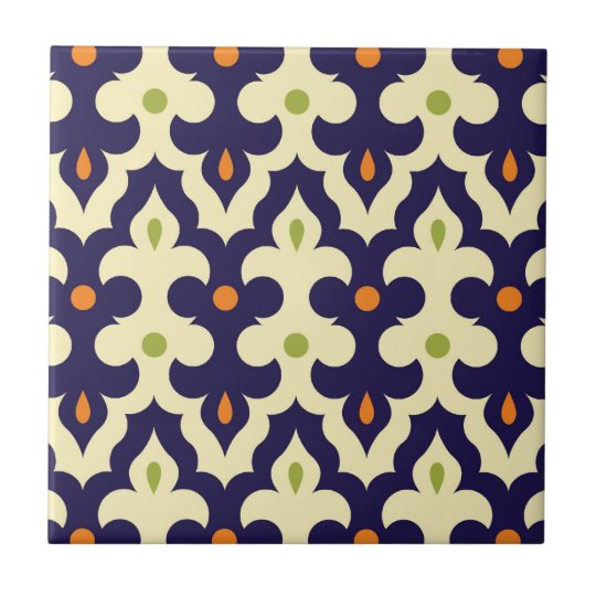 Damask paisley arabesque Moroccan pattern Ceramic Tile   Zazzle.com