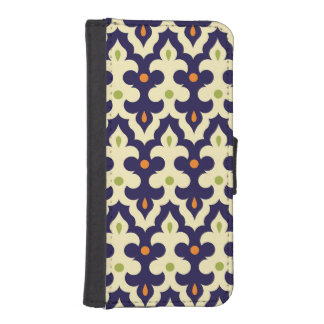 Damask paisley arabesque Moroccan pattern girly iPhone SE/5/5s Wallet Case
