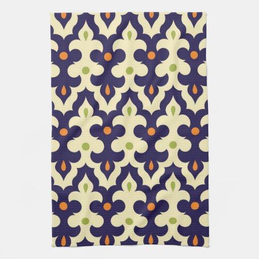 Damask paisley arabesque Moroccan pattern Kitchen Towel