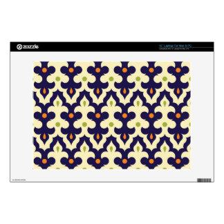 Damask paisley arabesque Moroccan pattern Laptop Skin