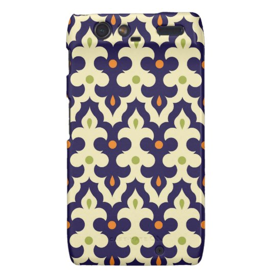 Damask paisley arabesque Moroccan pattern Motorola Droid RAZR Cover