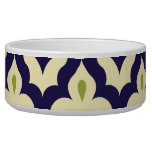 Damask paisley arabesque Moroccan pattern Pet Bowl