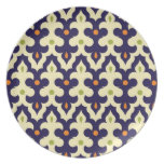 Damask paisley arabesque Moroccan pattern Dinner Plates