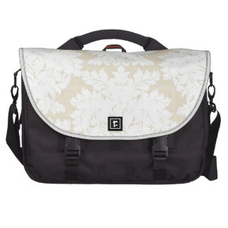 Damask | Pale Gold & White | Customizable Commuter Bags