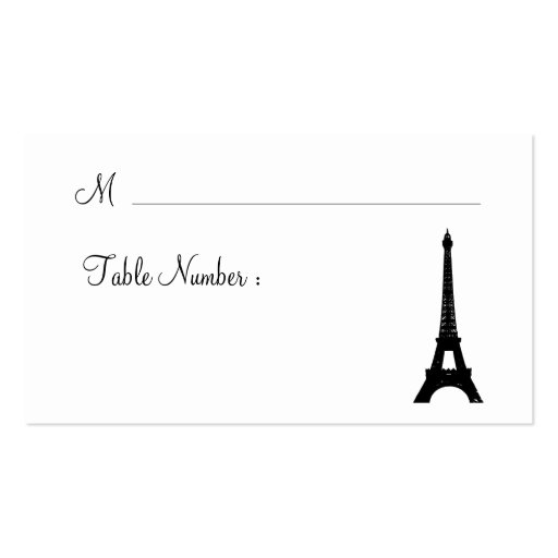 Damask Paris Place Card