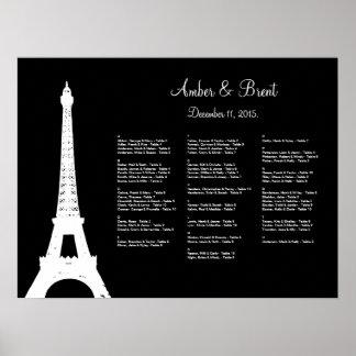 Damask Paris Seating Chart Poster