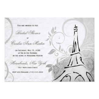 Damask Parisienne - Black & White Bridal Shower Invite