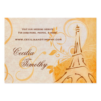 Damask Parisienne: Fall Spice Wedding Website Business Card Template