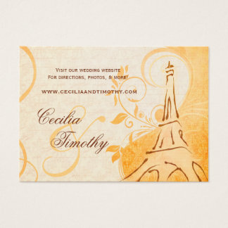 Damask Parisienne: Fall Spice Wedding Website Business Card