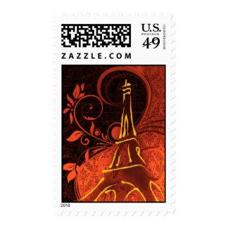 Damask Parisienne - Fiery Punk Rock Wedding Stamp