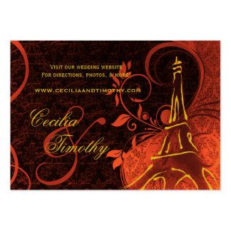 Damask Parisienne: Fiery Punk Rock Wedding Website Business Card Template