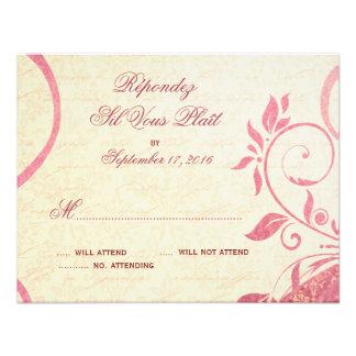 Damask Parisienne - Honeysuckle & Ivory RSVP Personalized Invite