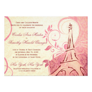 Damask Parisienne - Honeysuckle & Ivory Wedding Invites