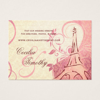 Damask Parisienne: Honeysuckle Wedding Website Business Card