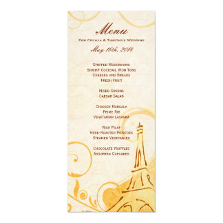 Damask Parisienne - Marmalade & Fall Spice Menu Card