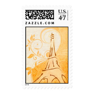 Damask Parisienne - Marmalade & Fall Spice Wedding Postage