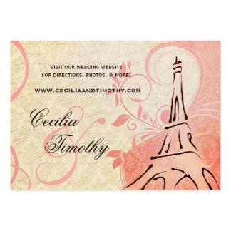 Damask Parisienne Pink & Cream Wedding Website Business Card