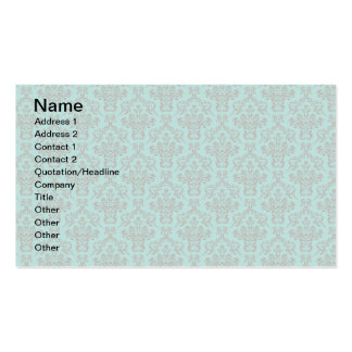 Damask Pattern Double-Sided Standard Business Cards (Pack Of 100)