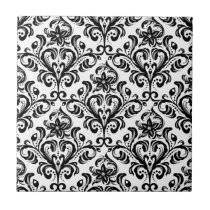 Damask Pattern Ceramic Tile