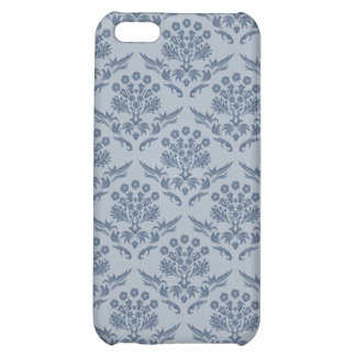 Damask Pattern Cover, Blue Case For iPhone 5C