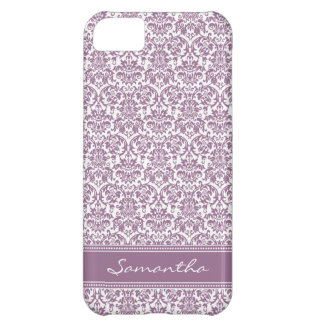 Damask Pattern iPhone 5 Case-Mate Case (lilac)