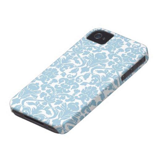 Damask Pattern - Light Blue Case-Mate iPhone 4 Case