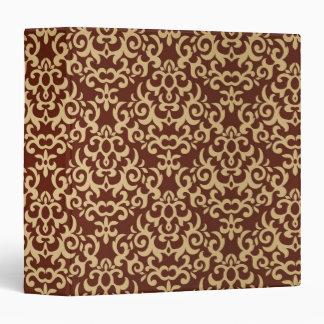 Damask pattern on gradient background binder