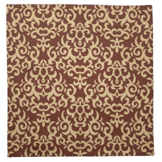 Damask pattern on gradient background cloth napkin
