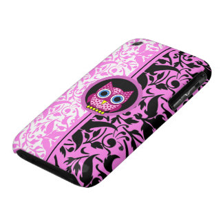 damask pattern owl Case-Mate iPhone 3 case