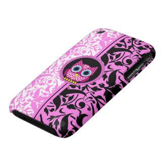 damask pattern owl iPhone 3 case