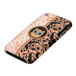 damask pattern owl iPhone 3 cover