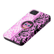 damask pattern owl iPhone 4 cover