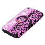 damask pattern owl tough iPhone 3 case