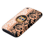 damask pattern owl tough iPhone 3 cases