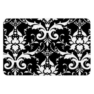 Damask pattern rectangle magnet