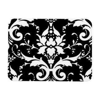 Damask pattern vinyl magnets