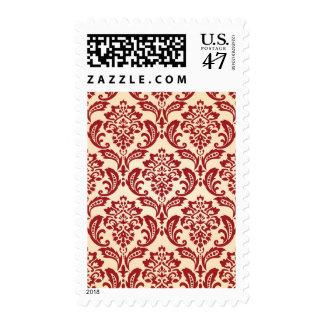 Damask pattern wallpaper postage