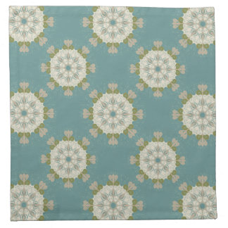 Damask pattern with abstract elements cloth napkin