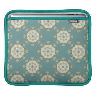 Damask pattern with abstract elements iPad sleeves