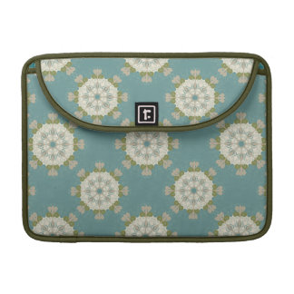 Damask pattern with abstract elements sleeve for MacBook pro