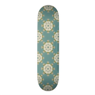Damask pattern with abstract elements skateboard deck