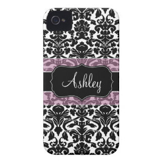 Damask Pattern with Area For Name Case-Mate iPhone 4 Case