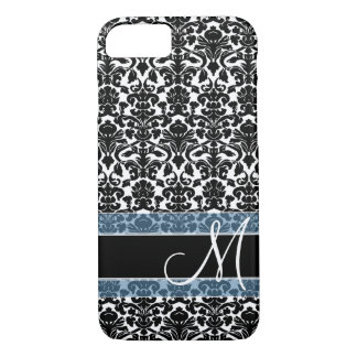 Damask Pattern with Monogram iPhone 8/7 Case