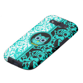 damask pattern with owl samsung galaxy s3 case