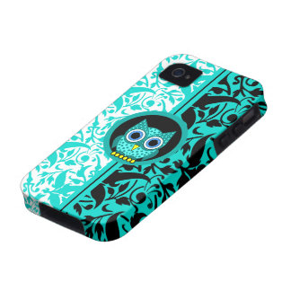 damask pattern with owl case for the iPhone 4