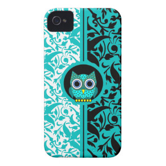 damask pattern with owl iPhone 4/4S case iPhone 4 Cases